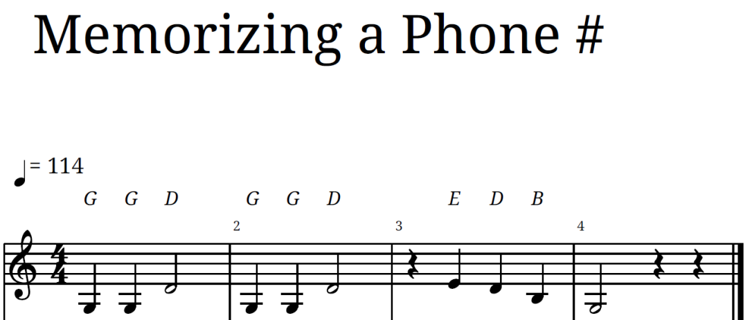 Memorizing a Phone #