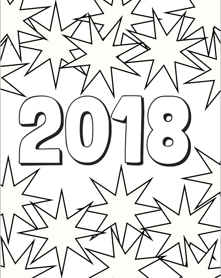 2018 Coloring Page Image
