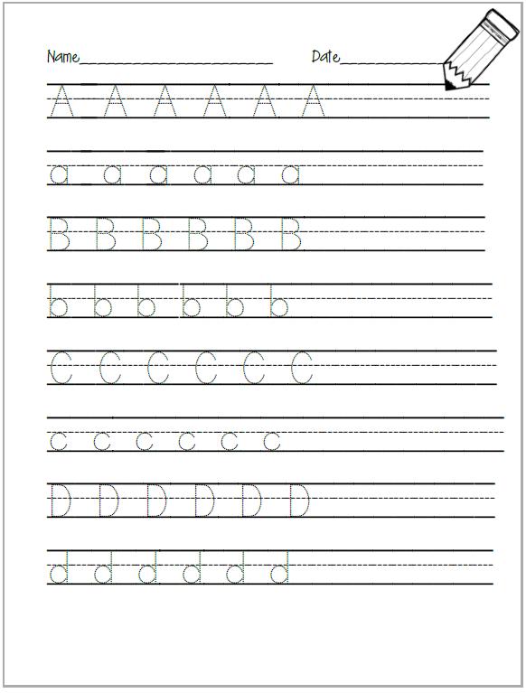 Alphabet Tracing Worksheet - Cookies & Racecars