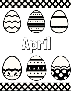 April Coloring Page | Cookies & Racecars