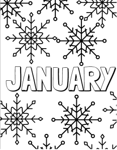 January Coloring Page | Cookies & Racecars
