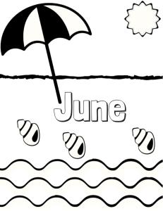 June Coloring Page | Cookies & Racecars