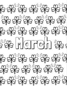 March Coloring Page | Cookies & Racecars