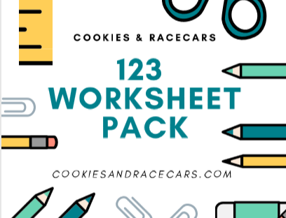 123 Number Worksheet Pack