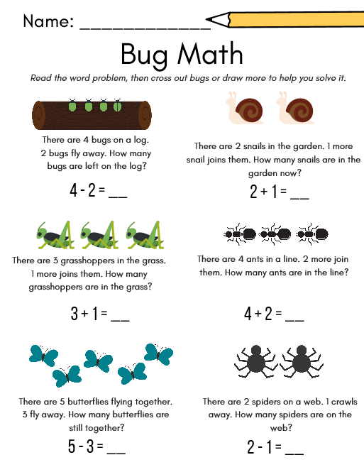 Birds & Bugs Worksheet and Activity Pack – Cookies & Racecars