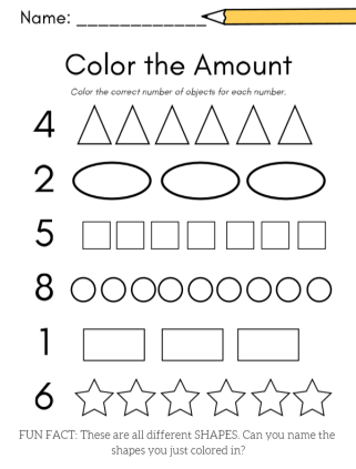color the amount