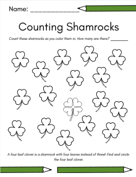 counting shamrocks