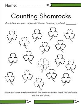 counting shamrocks