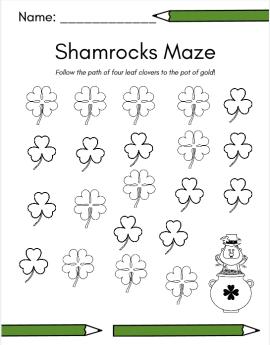 shamrocks maze