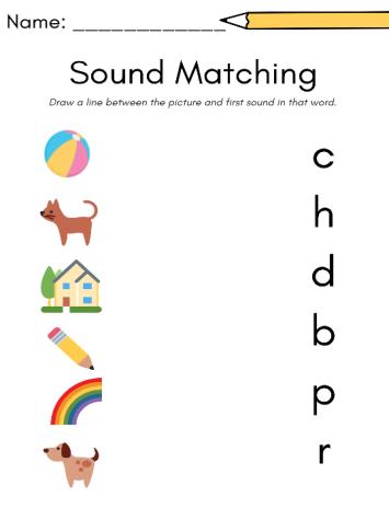 soundmatchworksheet