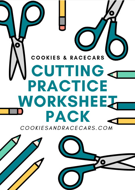 scissor skills cutting preschool worksheet cover