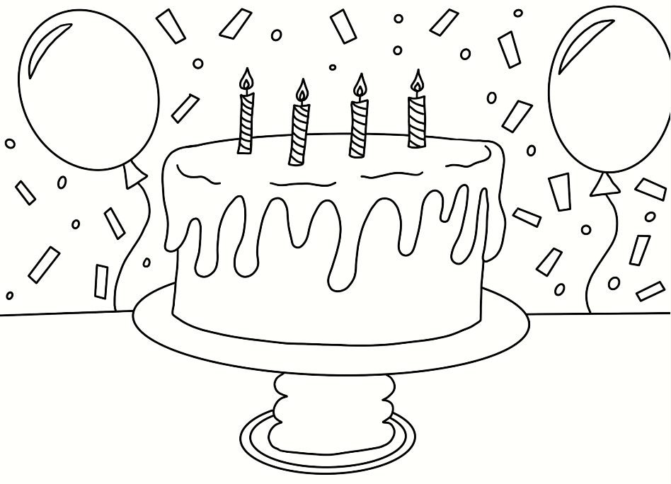 Terrific Birthday Cake Coloring Page Cookies Racecars Personalised Birthday Cards Beptaeletsinfo